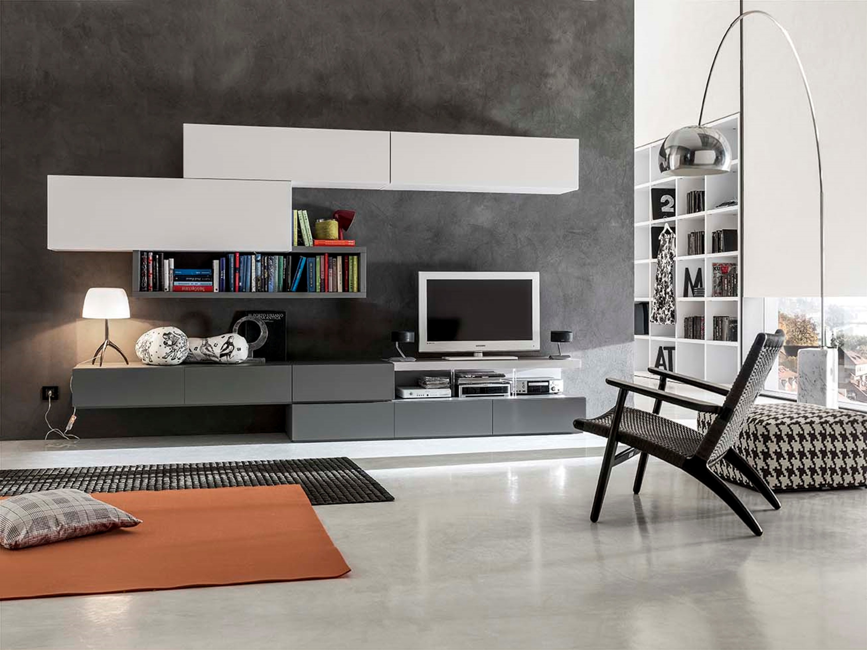 Mobila living evans for Colori salotti
